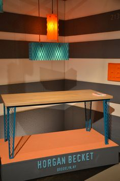 Resin #lighting & Mesh #tables from Horgan Becket--one of the best displays at #ICFF 2012