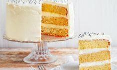 Appelsiinikakku Resepti | Dr. Oetker Danish Food, Lemon Curd, Vanilla Cake, Good Food, Sweets, Desserts, Recipes, Salt, Baking Soda