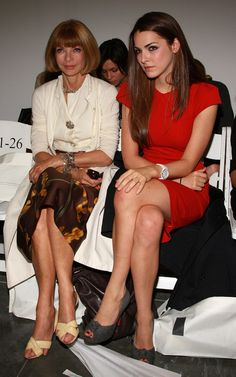 Anna Wintour and daughter Bee Shaffer...the fashion world's version of the Royal Family
