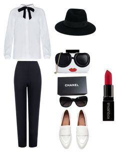 """Untitled #1039"" by mokeefe425 ❤ liked on Polyvore featuring WearAll, Alice + Olivia, Maison Michel, Smashbox and Chanel"
