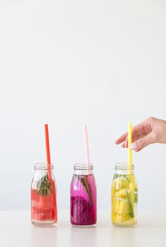 colorful fruit infused water