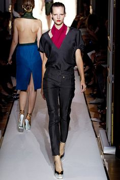 Saint Laurent Spring 2012 Ready-to-Wear Fashion Show - Sara Blomqvist