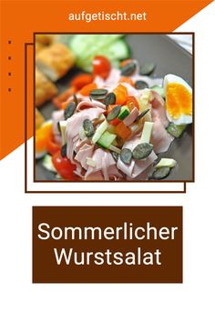 """Wir bereiten den Wurstsalat eigentlich immer schon vor, und stellen ihn dann noch kühl. Dies hat zwei Vorteile, der eine ist, dass der Wurstsalat genügend Zeit hat die Marinade aufzunehmen und so viel """"gschmackiger"""" ist, und der zweite Vorteil mit dem """"kühl stellen"""" ist, dass er erfrischender schmeckt! 🙂 Möchte man den Wurstsalat in einer Schüssel transportieren um ihn in die Arbeit oder zum Picknick mitzunehmen, dann findet man hierfür auch spezielle Kühlboxen. Genussmoment für Zuhause! Bbq Grill, Grilling, International Recipes, Creative Food, Delish, Vegetables, Cooking, Inspiration, Finger Food Recipes"""