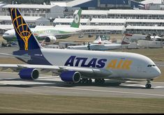 Atlas Air Airbus A380-800F All Airlines, Cargo Airlines, Atlas Air, Cargo Aircraft, Air Photo, Airbus A380, Work Family, Bmw X6, Commercial Aircraft