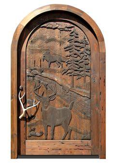 Carved Door   Hand Carved Cabin Lodge Door   3209HC Country Front Door,  Carved Door