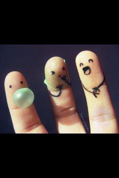 Finger people :)  bursting your bubble.