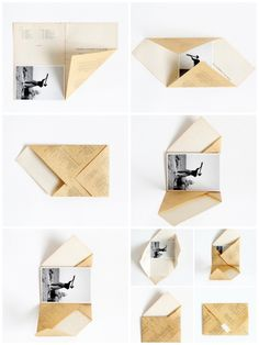 Paper Crafts Origami, Diy Paper, Paper Art, Scrapbook Letters, Pen Pal Letters, Bookbinding Tutorial, Stationery Craft, Diy Crafts For Gifts, Packaging Design Inspiration