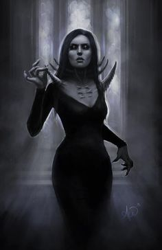 Fantasy Races, High Fantasy, Fantasy Art, Female Vampire, Vampire Art, Fantasy Characters, Female Characters, Vampire The Requiem, Cyberpunk