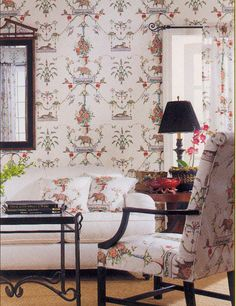 Azweema wallpaper and fabric from #CenturiesII #Thibaut
