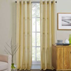 Weston Grommet Top Window Curtain Panel