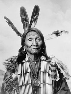 Native American (Lakota Sioux) man, identified as Crazy Bear, 1900F. A. Rinehart, Omaha