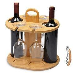 Wine Bottle Glass Holder, Wood Wine Racks, Wine Glass Holder, Wine Holders, Wine Bottles, Bottle Stoppers, Bottle Labels, Wine Rack Inspiration, Wood Crafts