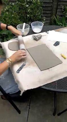 Hand Built Pottery, Slab Pottery, Pottery Mugs, Ceramic Pottery, Ceramic Wall Art, Ceramic Pots, Ceramic Clay, Pottery Lessons, Pottery Handbuilding