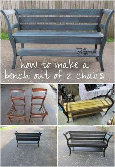 Chairs into Bench Upcycle | Do It And How