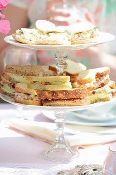 Bridal Shower. Pink, Fuchsia, and Zebra. tea sandwiches, vintage tea party bridal shower