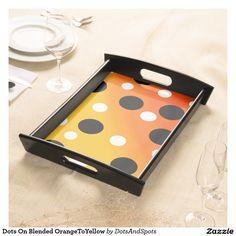 Dots On Blended OrangeToYellow Serving Platters