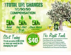 My company is paying me 50% commission. Want to see why it makes sense? Click here and find out at: www.totallifechanges.com/6006671