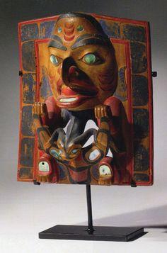Haida polychrome wood headdress