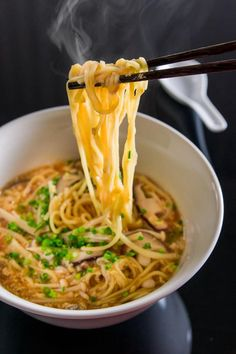 An easy 8-minute hot and sour ramen loaded with mushrooms, bamboo, and delicious restaurant-style ramen noodles in a spicy, savory, and tangy soup.