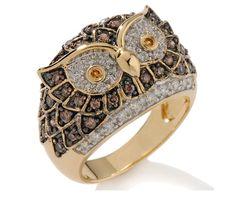 anel coruja de Victoria Wieck