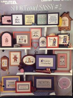 Short And Sassy #2 Cross Stitch Book Leisure Arts Leaflet Mini Sayings Patterns #LeisureArts