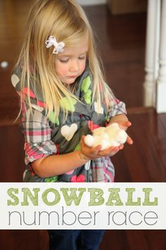 Toddler Approved!: Indoor Snowball Number Race for Kids