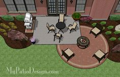 Backyard patio...I NEED to add that fire pit area :)