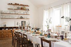 Party Tischdeko #einrichtung #interior #deko #dekoration #decoration #wohnen #living #tischdeko #herbst #esszimmer #diningroom #vase #partydeko #party #feier Foto: Leelah