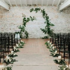 candles and greenery wedding aisle decorations wedding ceremony decor 40 Trending Wedding Aisle Decoration Ideas You'll Love Wedding Aisle Decorations, Garland Wedding, Wedding Centerpieces, Wedding Bouquets, Wedding Flowers, Wedding Greenery, Modern Centerpieces, Aisle Runner Wedding, Wedding Arrangements