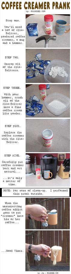 Funny Pranks – gotta do this to my dad just wish he used creamer