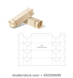 Box Template : images, photos et images vectorielles de stock Diy Gift Box Template, Paper Box Template, Paper Gift Box, Paper Gifts, Box Packaging, Packaging Design, Candy Boxes, Diy Box, Box Design