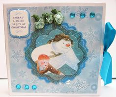 Dream Laine: Mini Star Book Snowman Card for Crafters Companion