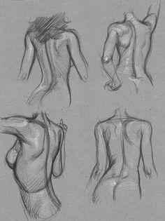 Female back 6 Tattoos And Body Art female body art Drawing Female Body, Female Body Art, Human Figure Drawing, Figure Sketching, Woman Drawing, Life Drawing, Anatomy Sketches, Body Sketches, Anatomy Drawing
