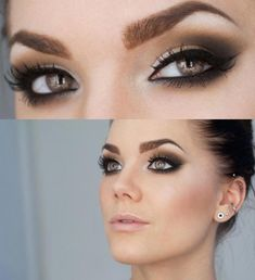 bridal smokey eyes | Wedding eye makeup - less smokey on the bottom....love!!! | My Style