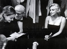 Marilyn with Susan and Lee Strasberg