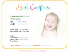 Baby Birth Certificate Template Glamorous Jamie Anthony Jamiesaveword On Pinterest