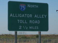 Interstate 75, Florida - Everglades Pkwy - AKA - Alligator Alley