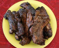 Marinated pork ribs baked in oven.Very delicious Jamaican recipe. Jamaican Jerk Sauce, Jamaican Dishes, Jamaican Recipes, How To Cook Chili, How To Cook Ribs, Meat Cooking Times, Cooking Recipes, Cooking Ribs, Smoker Recipes