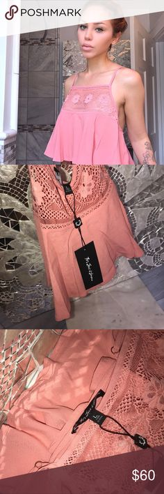 """nwt for love and lemons large 💯 nwt in large - L US 6/8  Length 16"""" Bust35 - 36"""" For Love and Lemons Tops Crop Tops"""