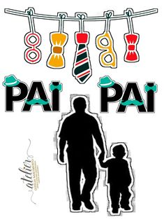 Graffiti Styles, Dad Day, Fathers Day Cards, Cute Images, Cake Toppers, Dads, Clip Art, Printables, Scrapbook