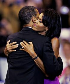 When the dust settles THIS is everything on earth..Barack and Michelle Obama hugging at 2008 Primary by obama photos, via Flickr