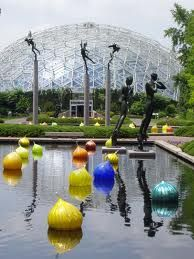 Dale Chihuly glass sculpture at the Missouri Botanical Gardens in St Louis.