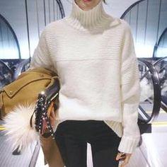 grobes St langarm Pullover durchsichtig Strick Pullover Damen Oberteil