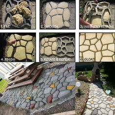 Pathmate Random Stone Mold Concrete Stepping Stones Paver Molds Pathway Maker Pathmate Random Stone Mold Concrete Stepping Stones Paver Molds Pathway Maker READ 8 Elements To Include When Designing Your Zen Garden // Pavers -- Include pavers.