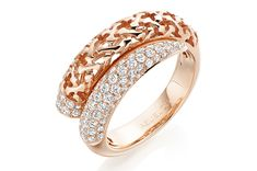 Ring, Moucharabieh Collection – Pink gold and diamonds