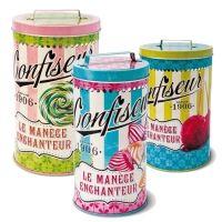 Juego de latas vintage Confiseur