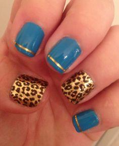 Cute nail design :o) leopard print