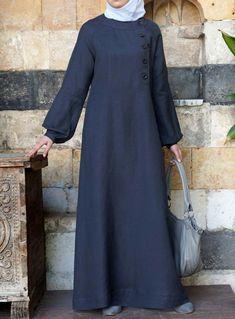 Aquilah Linen Maxi Dress – Summer Collection – Women – Linen Dresses For Women Abaya Mode, Mode Hijab, Abaya Fashion, Fashion Outfits, Dress Fashion, Fashion Muslimah, Maxi Dress Summer, Dress Winter, New Yorker Mode