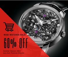#Wadi Watches #Sale! Up to 60% OFF on #PremiumWatches #Summer Season #Offer Buy or Gift at Best prices #SAVIOPLUS