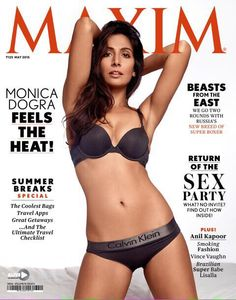 Maxim India Magazine May 2015. Gorgeous #MonicaDogra as the cover girl..#AnilKapoor special article session